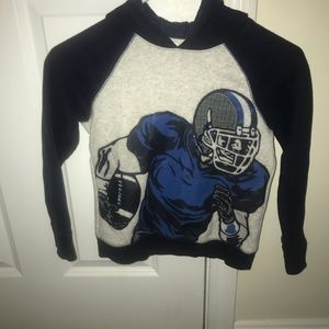 Kids football pictured sweater